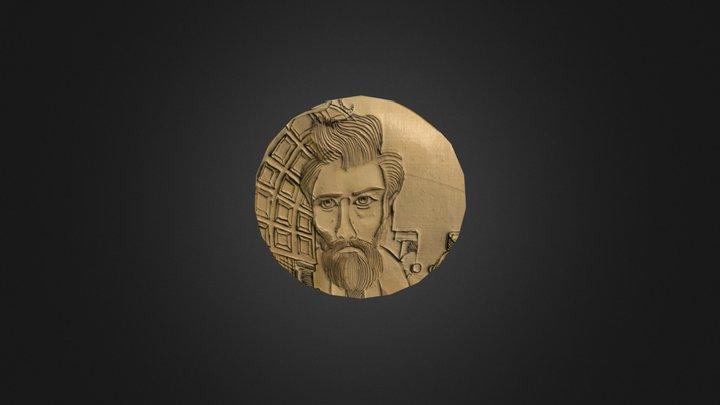 Escher Coin 3D Model