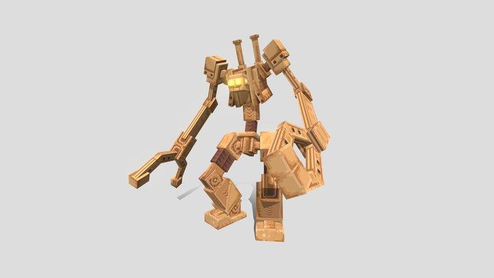 Steampunk Golem - [ ModelEngine Ready ] 3D Model