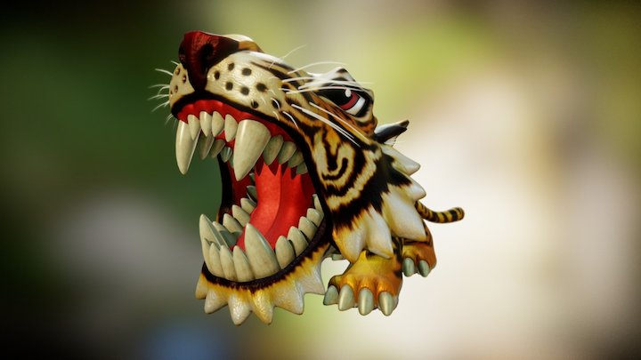 scarymals toy - tiger 3D Model