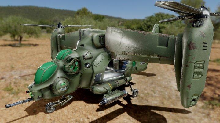 Fallout 4- DawnofAmerica Mod: Enclave Vertibird 3D Model