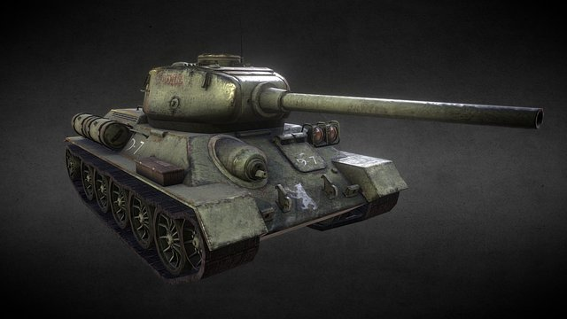 Russian T-34/85 3D Model
