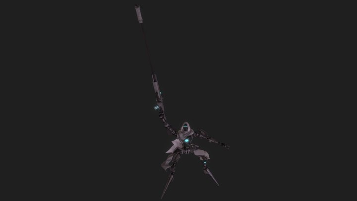 Wasteland Sniper 3D Model