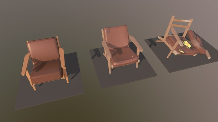 HW8 Armchair 3D Model