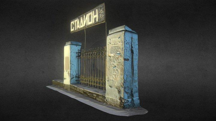 Stadium sign 3D Model