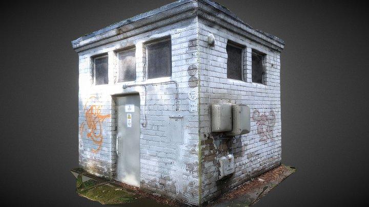 White Brick Power House 3D Model