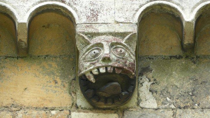 Feline grotesque corbel 1, Romsey Abbey 3D Model