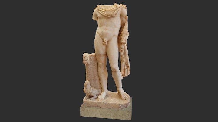 Apollon avec son arc et un corbeau 3D Model