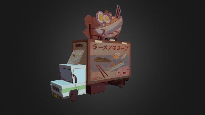 Ramen Truck 3D Model