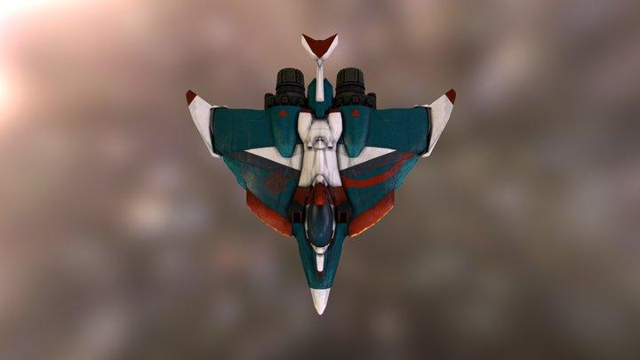 Redshift - Falcon Class Ship 3D Model