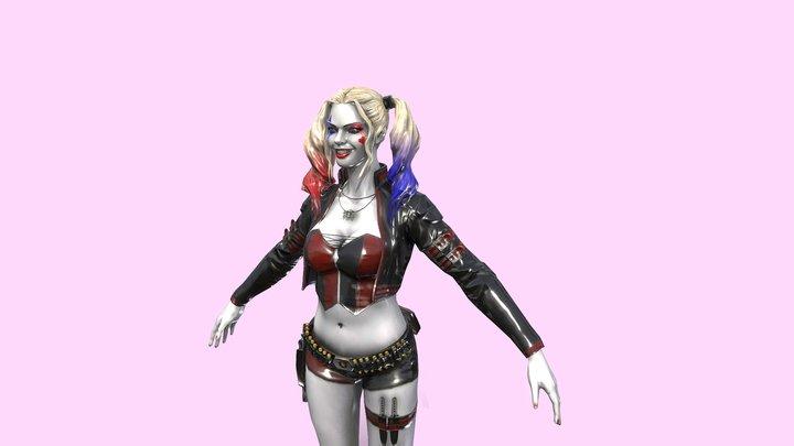 Harley Quinn Character 3D Model