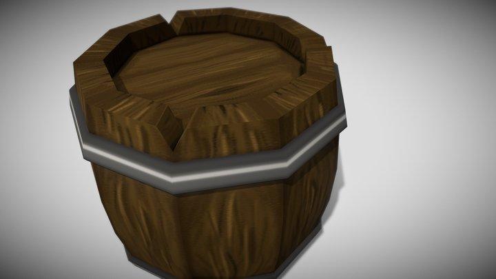 [Low Poly] Wooden Barrel 3D Model