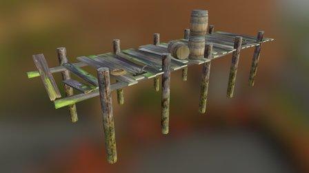 Low Poly Dock 3D Model