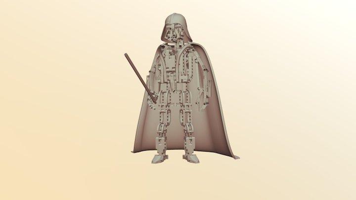 Darth Vader Lego 3D Model