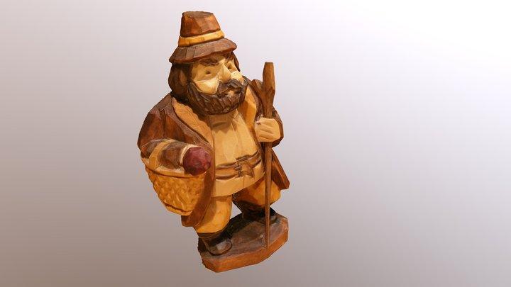 Holzfigur (Little wooden figurine) 3D Model