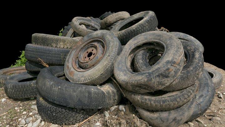 Old tyres 3D Model