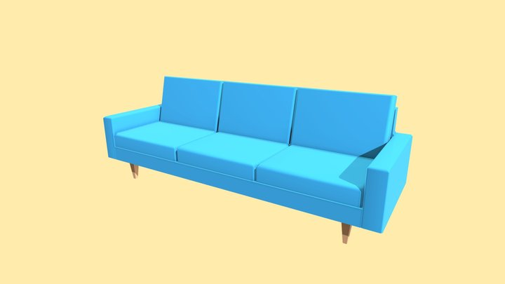 Couch - Household Props Challenge - Day 13 3D Model