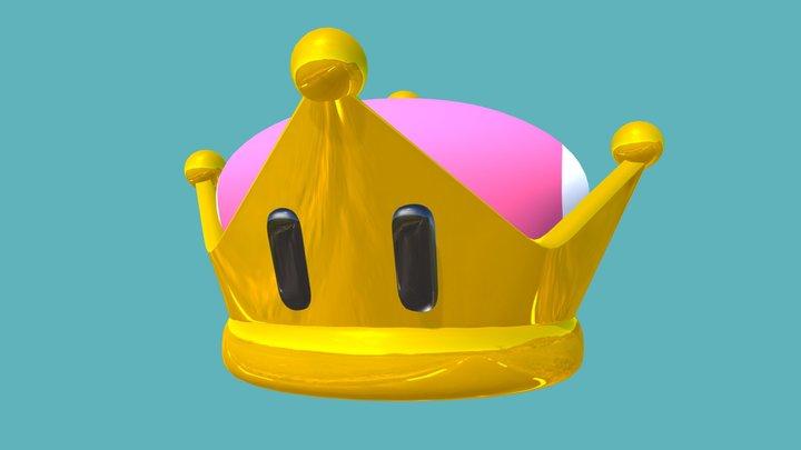 Bowsette Crown 3D Model