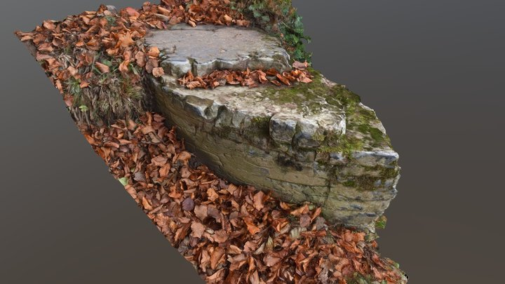 Grosmont Ironworks slag 3D Model