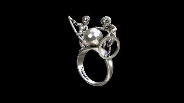 Melancholia Ring. 3D Model