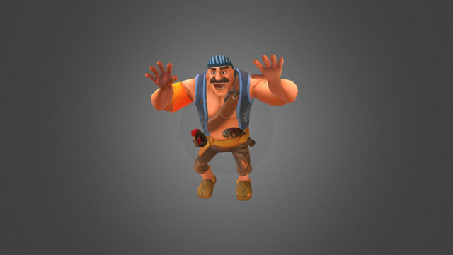 Taunting Pirate 3D Model