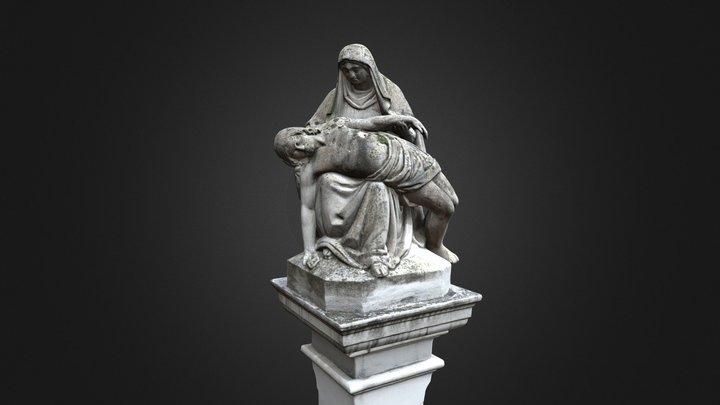 Wayside Shrine with Pietà / Bildstock mit Pietà 3D Model