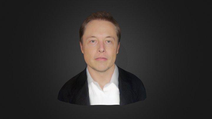 Elon Musk Face 3D Model