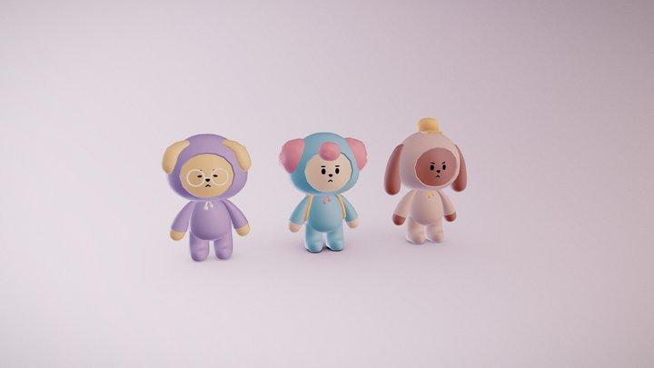 Cartoon kids 3D Model