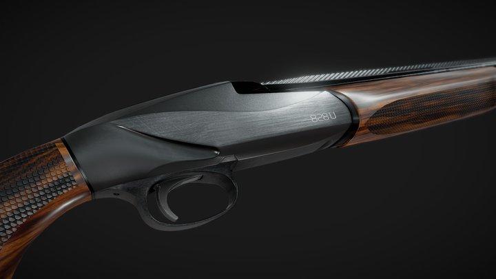 Benelli 828U Black 3D Model
