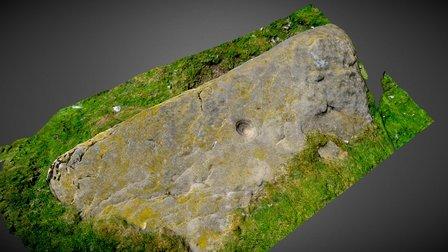 Single circular cup-mark on stone from Gelligear 3D Model