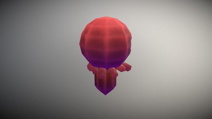Crystal Monster Low FBX 3D Model
