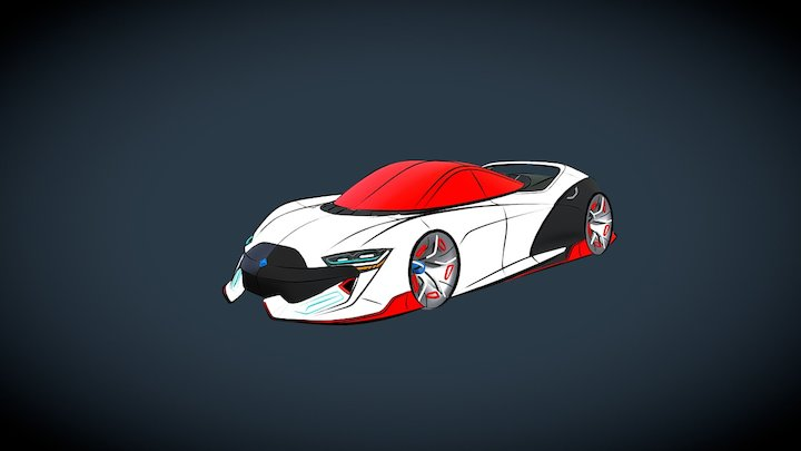 Supercar VR Sketch (Gravity Sketch) 3D Model