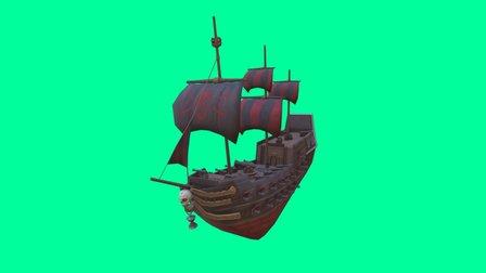 Blackbeard's Ship - The Revenge 3D Model