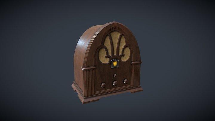 Classic Vintage Radio 3D Model