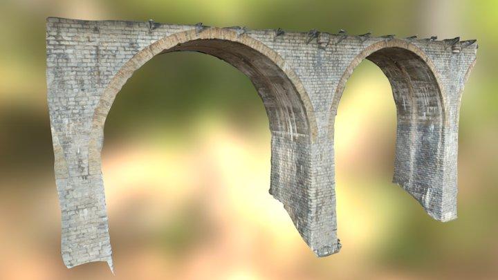 Bridge pillar inspection - Drone photogrammetry 3D Model