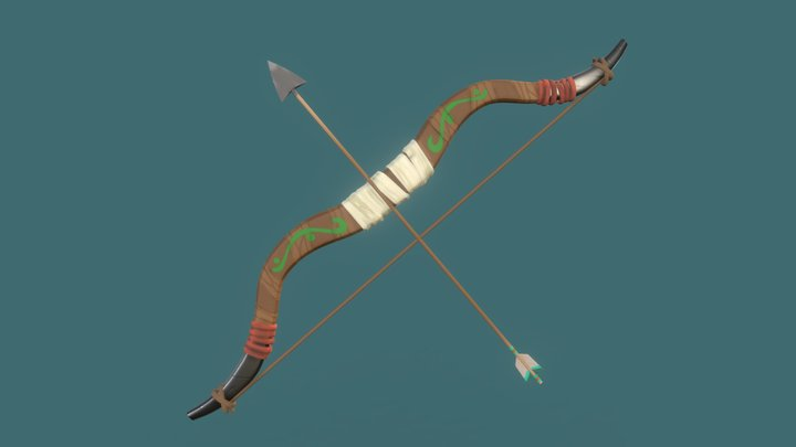 Wooden Bow from BoTW - Digital Sculpting 3D Model