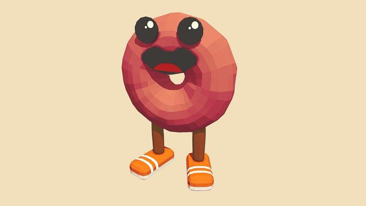 Mr Donut 3D Model