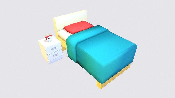 Bed - Gradient Test 3D Model