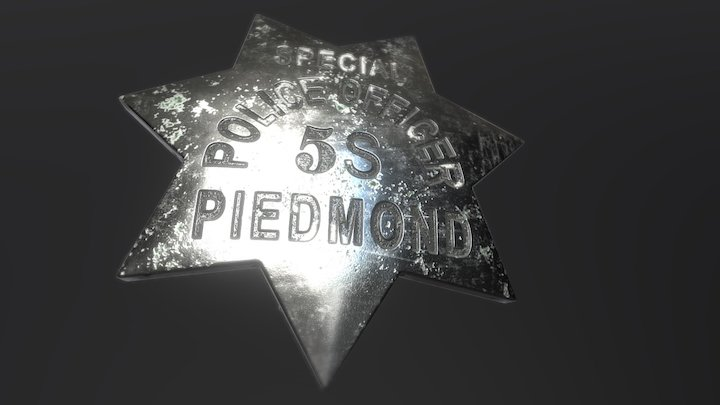 Vintage Sheriff (police) Star 3D Model