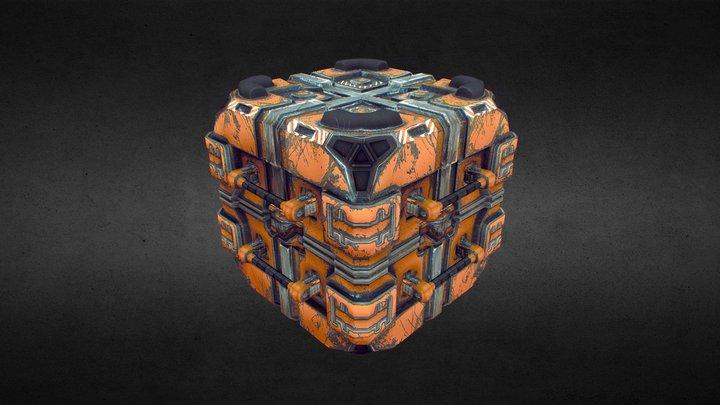 SciFi Crate 3D Model