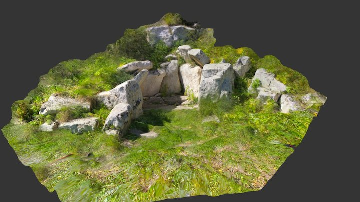 Dolmen, prehistoric tomb. Cava dei Servi, Sicily 3D Model