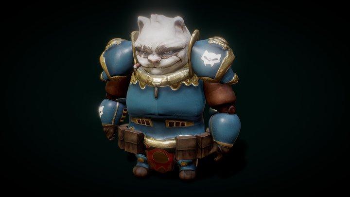 Cat_Marine 3D Model