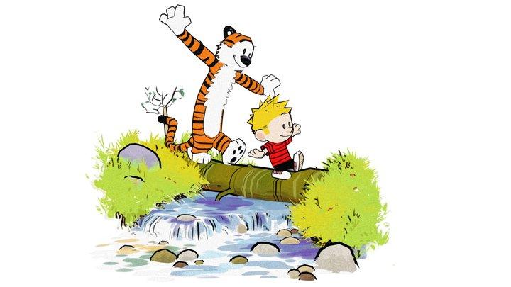 Calvin and Hobbes Log Bridge 3D Model