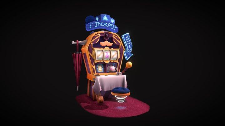 Gentleman's Slot Machine - CGMA Week 3 3D Model