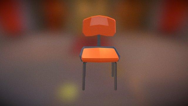 Simple 60s Chair 3D Model