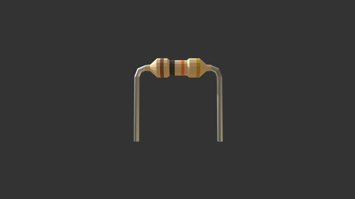 10K Ohm Resistor 3D Model