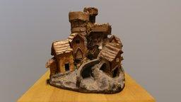 Tiny Wooden Model Houses 3D Model