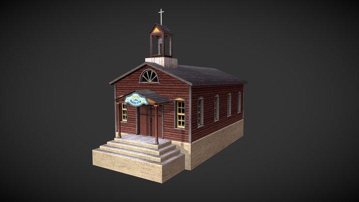 Wild West Church 3D Model