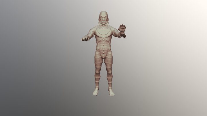 Black Lagoon Monster 3D Model