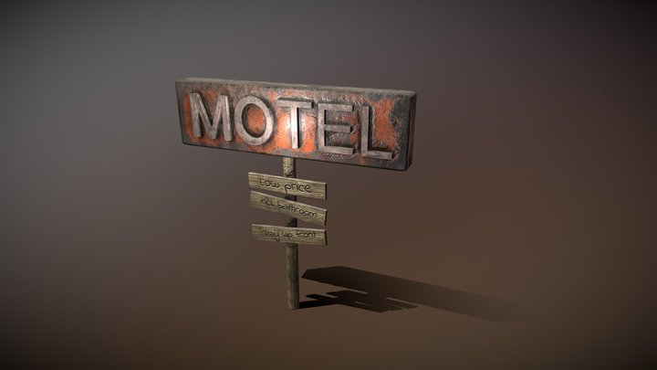 Motelsign Post Apo 3D Model