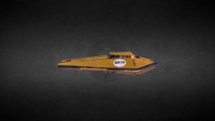 Toy racing ship 3D Model